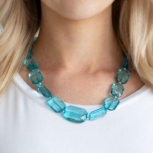 ICE Versa - Blue Necklace & Earrings